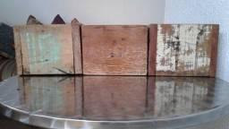 Novos !!!Nunca Usados!!!! Cachepots de madeira em demolição