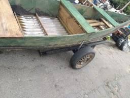 Vendo bote pesca fundo em zinco com a carretinha