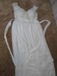 Manequim 40-Lindo Vestido de Noiva-Perfeito Estado-Cavalhada-Z Sul-Poa