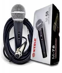 Microfone m58 com fio Profissional
