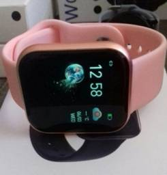 Smartwatch Completo i5 Fitness / pulseira de Pino / cor Rosa