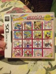 Cartucho com 520 jogos para ds 3ds desbloqueado