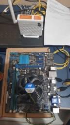 KIT I3 3240 TERCEIRA GERAÇÃO 4GB DDR3 PLACA MÃE ASUS S1155 COOLER ESPELHO COMPLETO