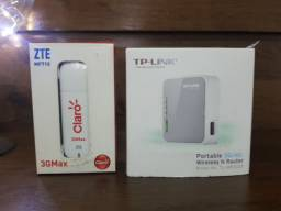 Kit Roteador Portátil Wireless+Modem 3G