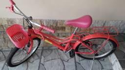 Bicicleta Monark Brisa Rosa Aro 20