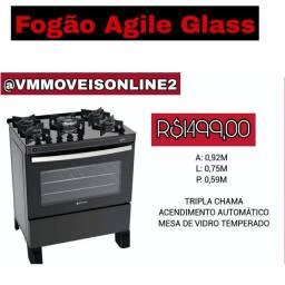 Fogão Atlás Agile Glass Fazemos Entrega