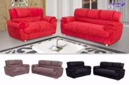 Sofa 2 e 3 lugares ref 7025 - Pronta Entrega