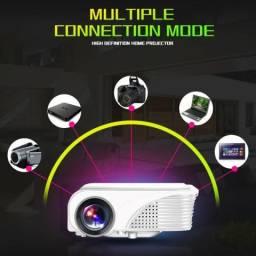 Projetor S320 Hd 1080p Led 1800 Lumens + Tela De Projeção
