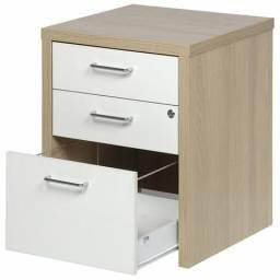 Mesa de escritório, gaveteiro e arquivo