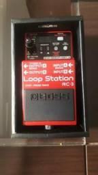Pedal para guitarra loop station boss RC3