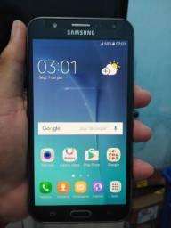 Samsung j7 Black 16giga 4G tela 5.5