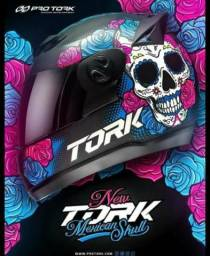 NOVO! LANÇAMENTO. capacete top. caveira mexicana