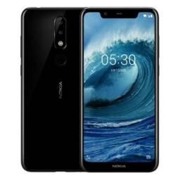 "Smartphone Nokia 5.1 Plus TA-1120 Dual Sim LTE Tela 5.8"" HD+ Preto"