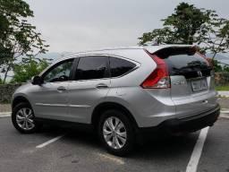 Honda Crv-Exl 4x4 Prata 2012 - Top de linha c/ telo solar - completíssima - 2012