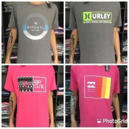 Kit 10 camisetas surf fio 30.01 de brusque