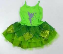 Fantasia Infantil Vestido Tinker Bell