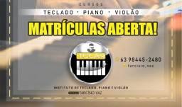 Curso de Teclado, piano, Acordeom e violão