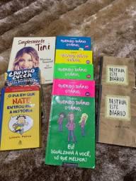 Livros Querido Diário Otario, Capitão Cueca vol 5, simplesmente Tini, e outros da foto