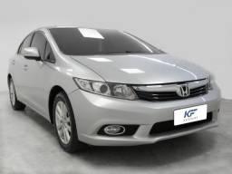 Honda Civic 2.0 LXR Prata 2014 Automático Completo