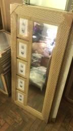 Espelho com porta retrato