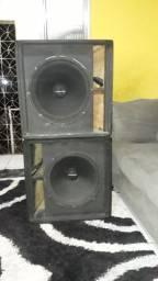 2 caixas Passiva de som sub grave 18 polegadas