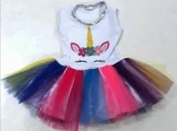 Fantasia Infantil Vestido Unicórnio