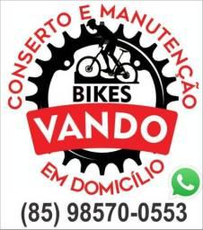 Consertos e manutenção de bicicletas em domicílio.