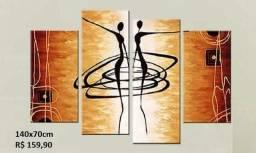 Quadros abstratos c/ relevo 135x75 cm