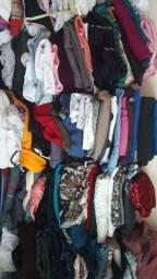 Lote de roupas pra brechó apenas 1 real