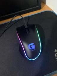 Mouse Gamer Usb 4000 Dpi Pro M9 Rgb Preto 64387 Fortrek