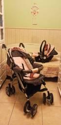 Carrinho de Bebê + Bebê Conforto Divicar