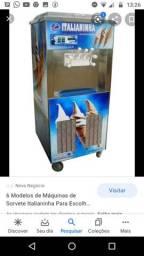 Vendendo máquina de sorvete