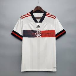 Camisa Flamengo Branca Pronta Entrega