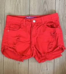 Short jeans vermelho