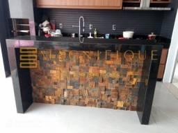 Mosaico de Pedra Ferro Basalto 3D Natural Ferrugiminoso Parede Promoção Magnifique