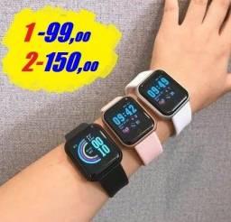 Smartwatch D20 Promoção Relâmpago - 1 por 97/ 2 por 75,00 cada / Leia e Descrição