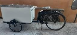 Carrinho de lanche com bicicleta acoplada,em ótimo estado de conservação