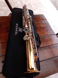 Sax Michael Soprano WSSM49 Dual Gold Mais Brinde
