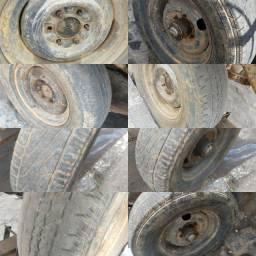 Roda R16 seis furos com pneus meia vida