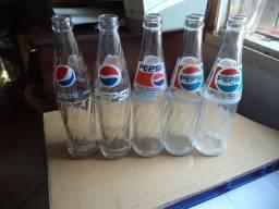 Lote 5 Garrafas Pepsi Antigas coleção