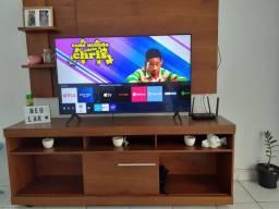 TV smart samsung 50 polegadas, raque e painel.