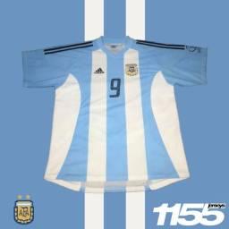 Camisa Seleção Argentina da Copa do Mundo (2002) - Batistuta #9