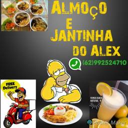 Almoço e jantinha do alex
