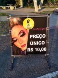 Placa/ cavaletes propagandas na promoção!