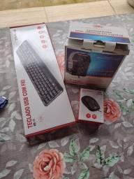 Computador C3 PLUS completo com monitor AOC 18,5, teclado, mouse e estabilizador