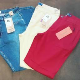 Vendo estoque de jeans, calças 40,00, shorts 20,00, saias 20,00, camisetas 15,00