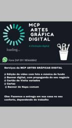 Edição de Vídeo e Artes gráfica digital