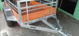 Carretinha Fazendinha 1,20x1,80 Reboque Zero KM