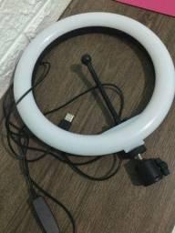 Ring light 26cm (com avaria) com disparador