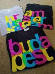 Camisetas de cidades européias: Amsterdam, Bruxelas, Budapeste